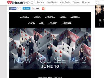 iHeartRadio Now You See Me 2 Premiere Flyaway! Sweepstakes