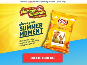 LAY'S Summer Moments Sweepstakes – Codes Required