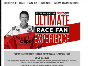 "The Sport Clips ""Ultimate Race Fan Experience – New Hampshire"" Sweepstakes"