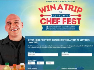 Lipton's Chef Fest Sweepstakes
