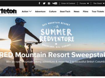Teton Gravity Research RED Mountain Resort Sweepstakes