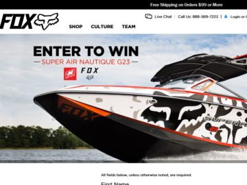 Wakeboard boat sweepstakes or giveaways