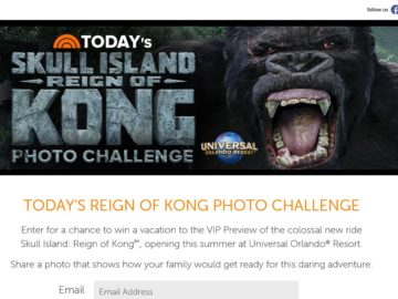 The Today's Reign of Kong Photo Challenge Sweepstakes