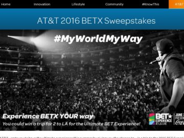 The AT&T 2016 BETX Sweepstakes