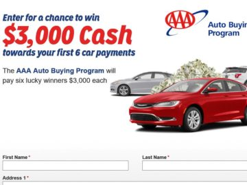 AAA National Auto Payments Sweepstakes