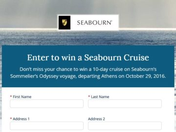 The 2016 Seabourn Sommelier's Odyssey Sweepstakes