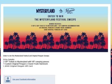 The Original Penguin Mysteryland Festival Sweepstakes