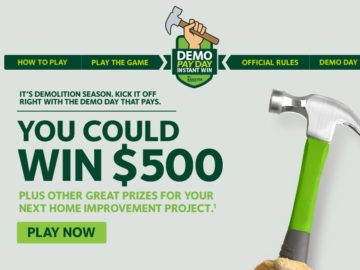 Demo Pay Day Instant Win Sweepstakes