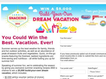 Summer Snacking Sweepstakes