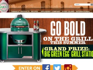 The Grill with TABASCO Sweepstakes