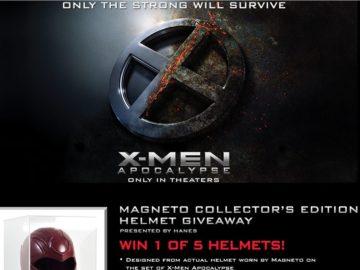 The Hanes X-Men: Apocalypse Magneto Collector's Edition Helmet Online Giveaway Sweepstakes