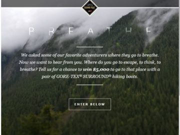 The GORE-TEX Brand Breathe Project Contest
