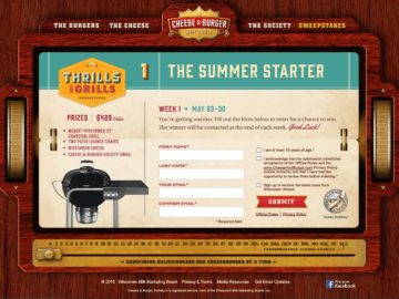 "The Cheese & Burger Society ""Thrills and Grills"" Sweepstakes"
