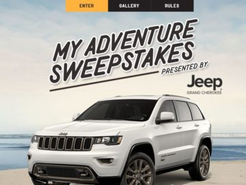 Jeep's My Adventure Sweepstakes