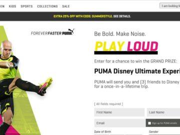 PUMA Disney Ultimate Experience Sweepstakes