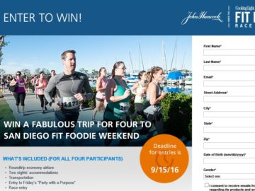 The John Hancock Life Insurance Company Fabulous Fit Foodie Giveaway Weekend Sweepstakes