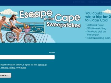 The Valpak Escape to the Cape Sweepstakes