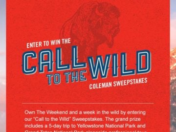 "The Coleman ""Call to the Wild"" Sweepstakes"