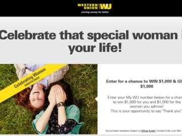 "The Western Union My WU ""Celebrating Women"" Sweepstakes"