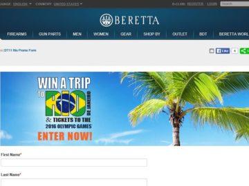 Beretta Trip to Rio Sweepstakes