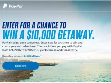 PayPal Great Adventure Sweepstakes