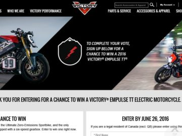 The 2016 Victory Motorcycles PPIHC Thunder vs Lightning Sweepstakes