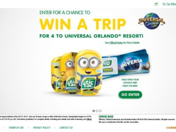 The Minions Tic Tac Sweepstakes