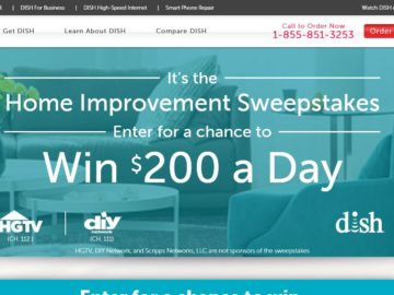 Dish Home Improvement Sweepstakes