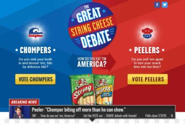 "The Saputo Cheese USA Inc., Frigo Cheese Heads ""Great String Cheese Debate"" Sweepstakes"