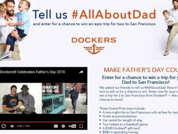 Dockers All About Dad Sweepstakes