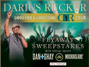The Darius Rucker Live Nation Flyaway Sweepstakes
