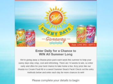 Shasta Sunny Days Giveaway Sweepstakes
