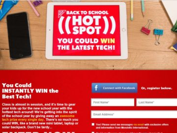 Nabisco Back to School Hot Spot Sweepstakes