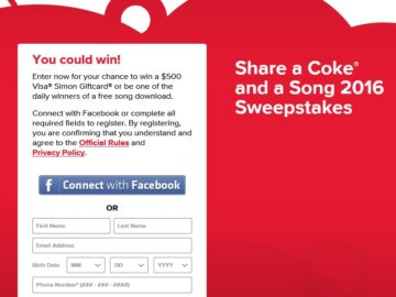 The Share A Coke & A Song 2016 Sweepstakes