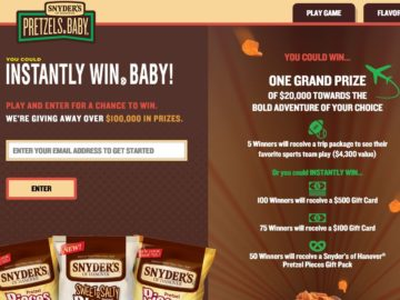 "The Snyder's of Hanover Pretzel Pieces ""Catch a Piece of the Action"" Sweepstakes"