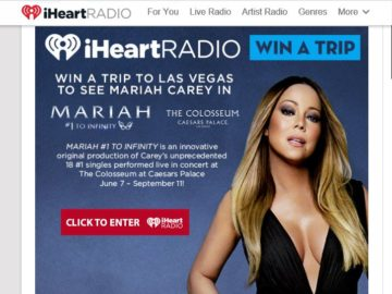 iHeartRadio Mariah Carey in Vegas Sweepstakes