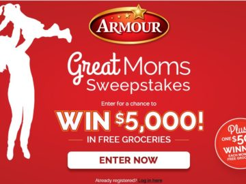 The Armour Great Moms Sweepstakes
