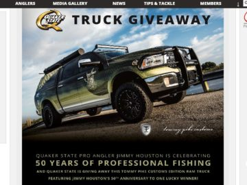 """The """"Win the Quaker State Truck Customized by Tommy Pike Customs"""" FLW Member Sweepstakes"""