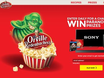 The Orville Redenbacher's + Ghostbusters Sweepstakes