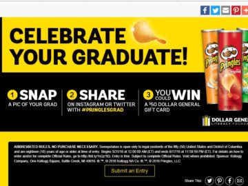 The Dollar General – Pringles Grad Sweepstakes