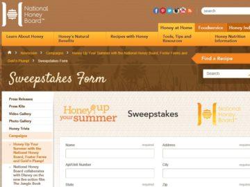 HoneyUP Your Summer Sweepstakes