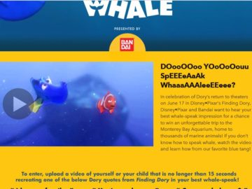 The Disney Let's Speak Whale Sweepstakes