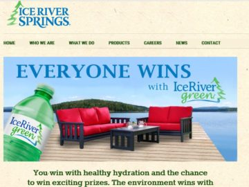 The Ice River Springs Green Sweepstakes