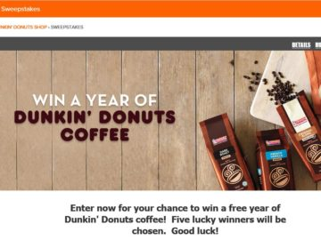 The Dunkin' Donuts Sweepstakes