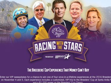 The Breeders' Cup World-Class Racing Experience Sweepstakes
