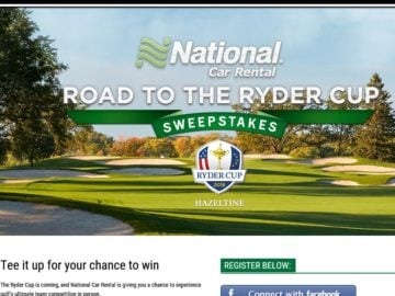 The National Car Rental Ryder Cup Sweepstakes