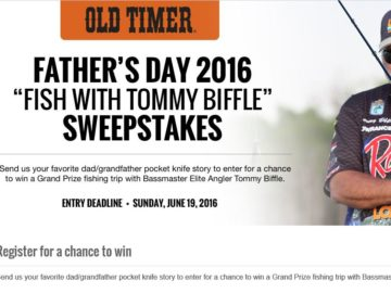 Old Timer Father's Day Fish with Tommy Biffle Sweepstakes