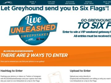The Greyhoundliveunleashed.com Sweepstakes