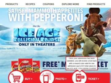 The Ice Age 5 Hormel Foods Sweepstakes
