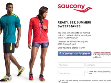 Saucony READY, SET, SUMMER! Sweepstakes